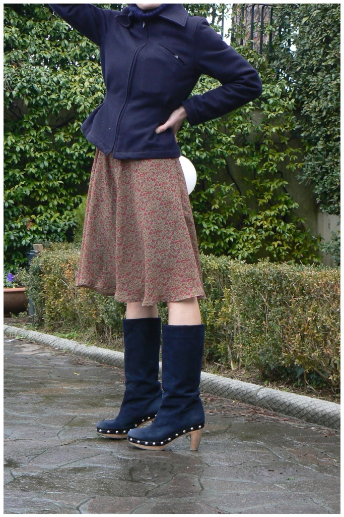 Vintage skirt, Marni boots, style, vintage style, cute. Glamour