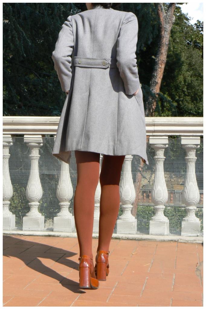 Vintage, dress, coat, Prada shoes,