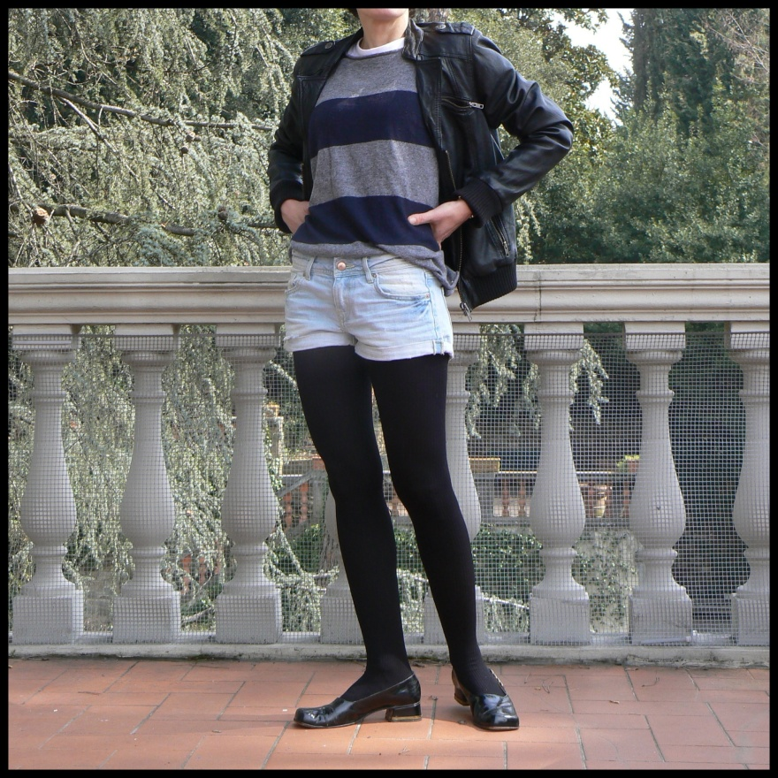 Levi's, my life, my vintage, my vintage style, leather jacket, striped, sweater, Anastasia, Florence, my soul dress, blue, soul, mercato di S. Ambrogio.