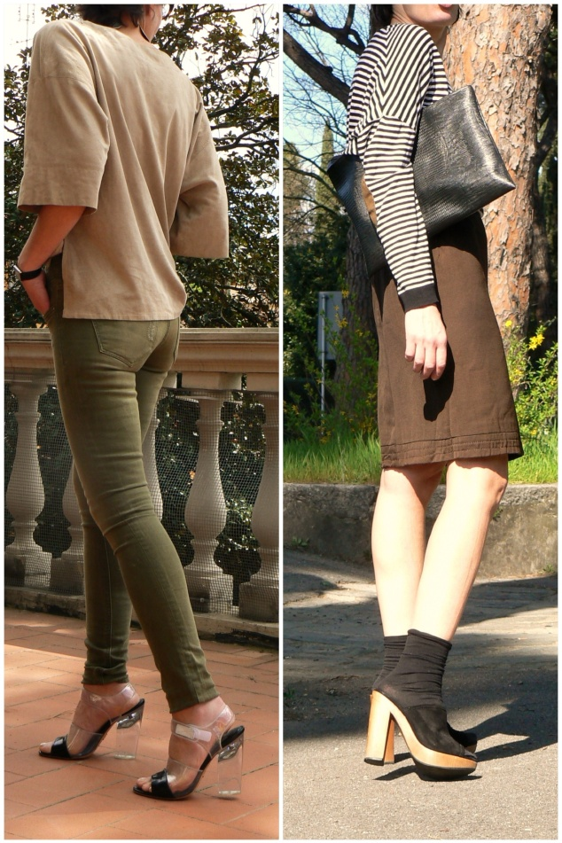 Looks di aprile 2013, pantaloni spigati, stripes black and grey, Romwe shoes, t-shirt Zara, vintage, A.N.G.E.L.O., vintage style, new outfit, trendy outfit, glamour outfit, pantaloni a vita alta, un tocco di verde, white shoes, flat shoes, casual outfit, irregular pants, Florence, Anastasia, chic, cheap, fantasy look, mix look, cheap outfit, , outfit, Striped, black and white, gonna a vita alta, gonna marrone, zoccoli, calzini con zoccoli, Anastasia, vintage bag, pochette nera, zoccoli, vintage style, my life, Anastasia style, sweater black and white, Levi's ID curve, ID curve slight, slim, Anastasia, Florence, Valentino shoes, t- shirt Asos, jacket H&M, casual look, new outfit, new look, sunday look, grey shirt, white jacket, jeans look.Vintage jacket, stripes jacket, Anastasia, new outfit, mysouldress, american apparel leggins, Genny shirt, Florence, giacca nera e rossa, Balenciaga shoes, vintage bag, yellow shirt, black leggins, vintage style, Spring fashion, Spring outfit, Spring trendy,