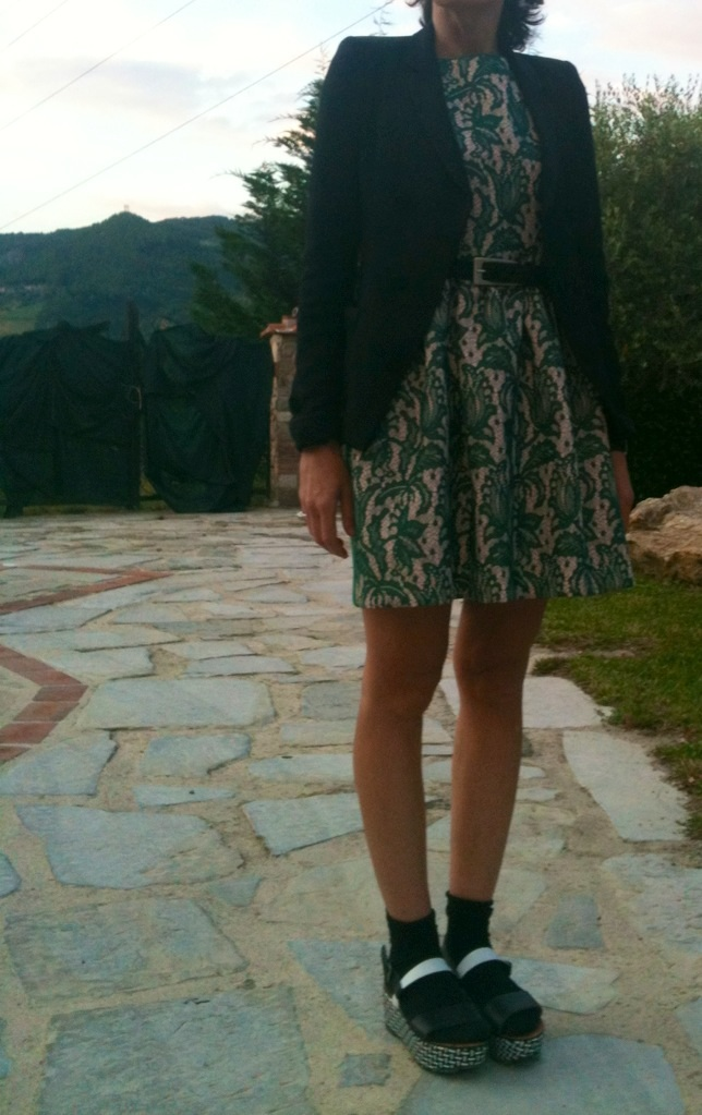 anastasia style, vintage style,, zra dress, fantasy dress, zara shoes, balenciaga jacket, florence, my life, my style, new outfit, bloggere, fashion bloggere, italina fashion blogger,