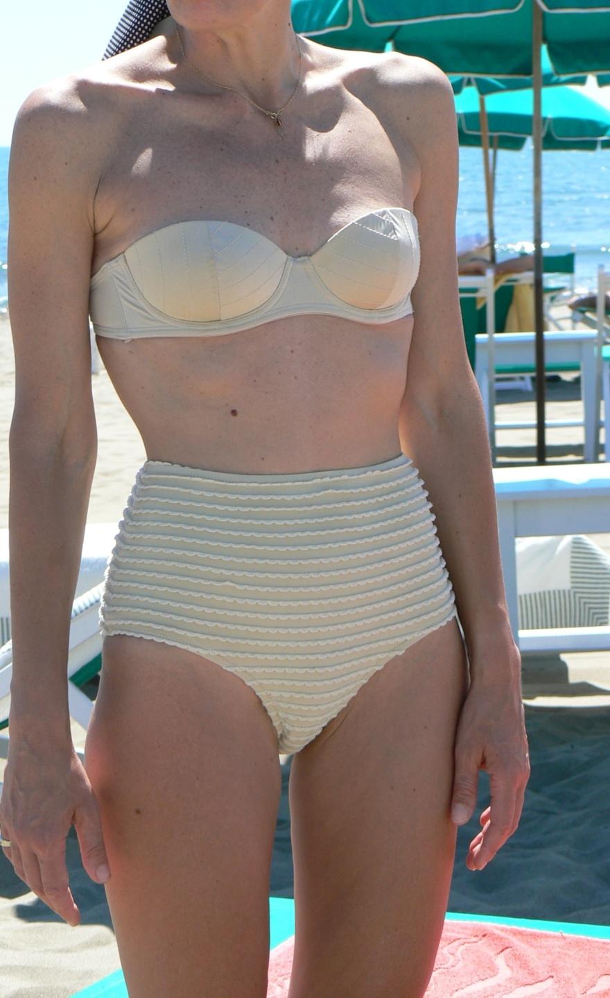 Bikini anni 50, vintage beachwear, Anastasia style, swinwear, vintage swinwear, vintage style, beach outfit, Florence, la G