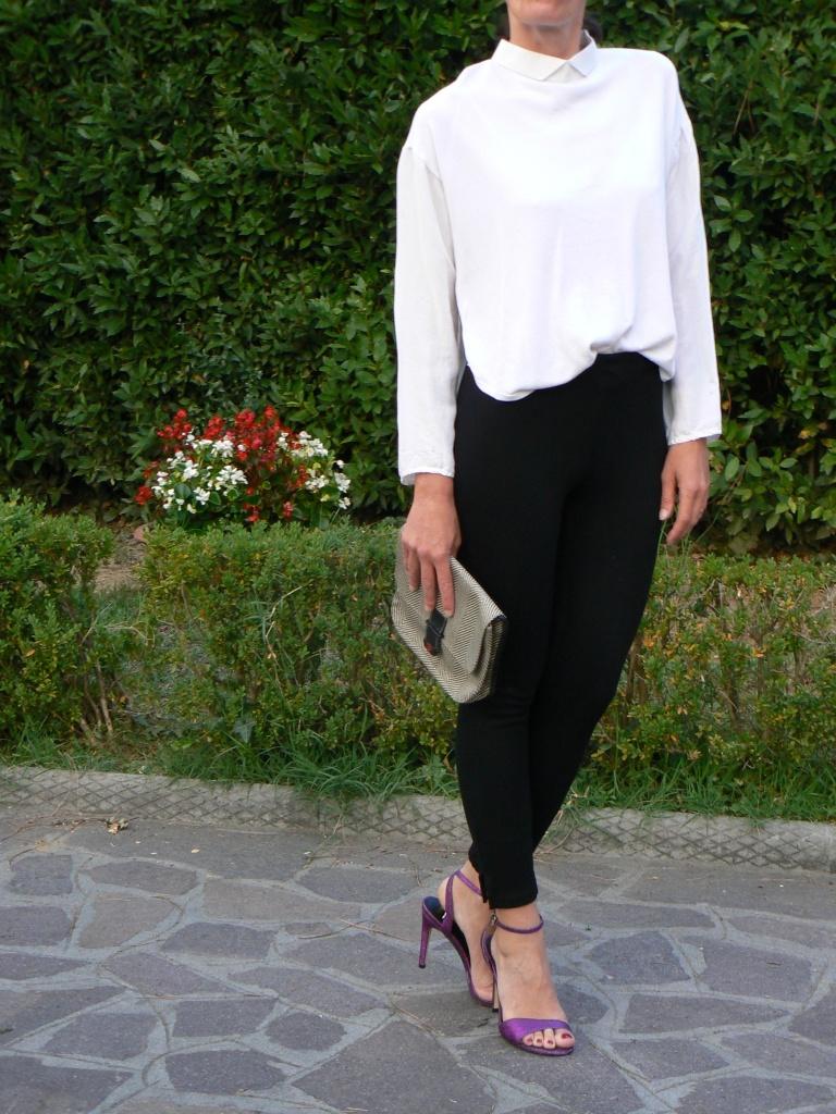 Black pants, white shirt, sandals, Asos, Zara, Anastasia style, Florence, vintage style, italian fashion blog, blogger, new outfit, new look, black and white,
