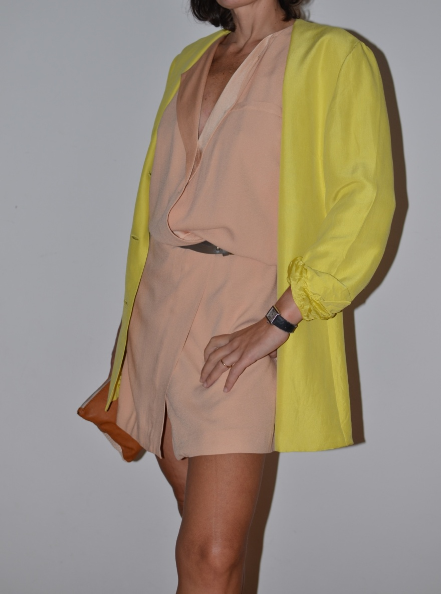 Fashion blog, fashion blogger, yellow, rose, Zara dress, vintage style, Genny jacket, Zara shoes, rose shoes, Anastasia style, Florence,