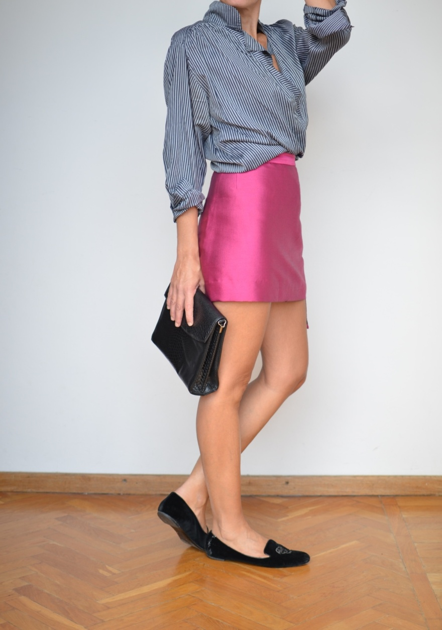 Vintage skirt, vintage shirt, Alexander mc Queen shoes, Vintage bag, Anastasia style, Florence, vintage style, vintage, look da mezza stagione.