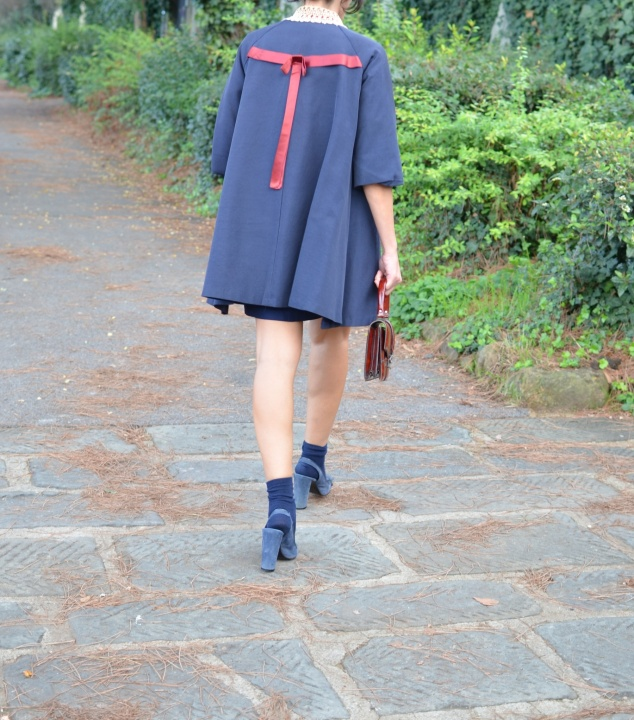 Vintage coat, dress Mysoultransformer, Marc Jacobs shoes, blues sandals, winter sandals, vintage bag, winter bag, a little winter bag, socks and sandals, look for a cocktail, new in mysouldress blog, fashion italian blog, Florence, vintage outfit, look per un battesimo,