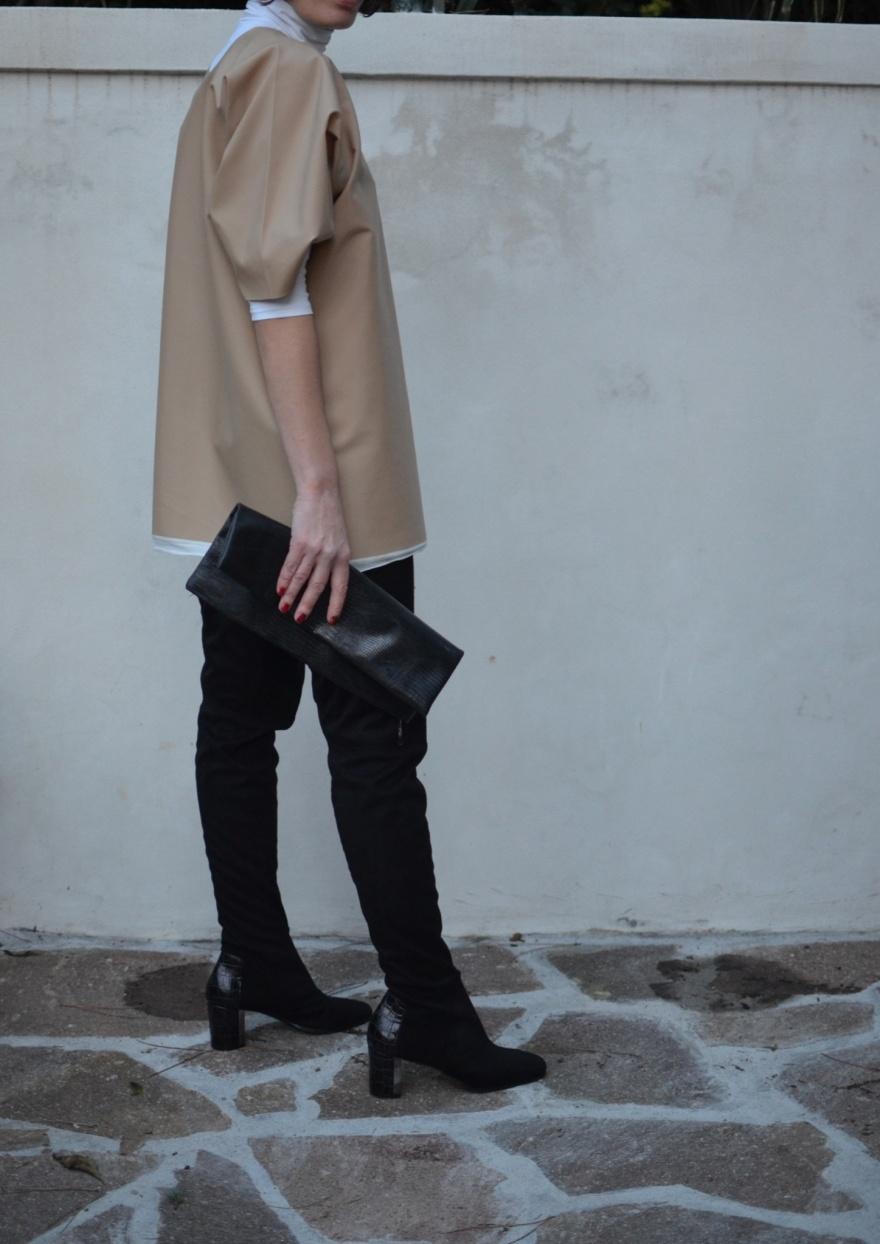 Vestito mysouldress, stivali alti neri, black boots, cuissard boots, Max&co, vintage style, macchina da cucire, mysouldress style, cool outfit, celine, vintage style, Florence, italian fashion blogger, vintage blog, cucire, handmade, vestito fatto in casa, Singer.