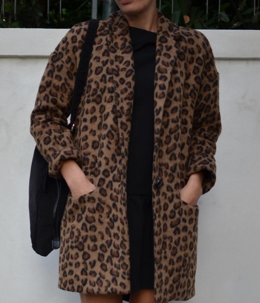 Leopard corta, Asos coat, Marni shoes, Calzedonia socks, Kookai dress,black dress, vintage bag, Anastasia style, mysouldress, vintage style, vintage, Florence